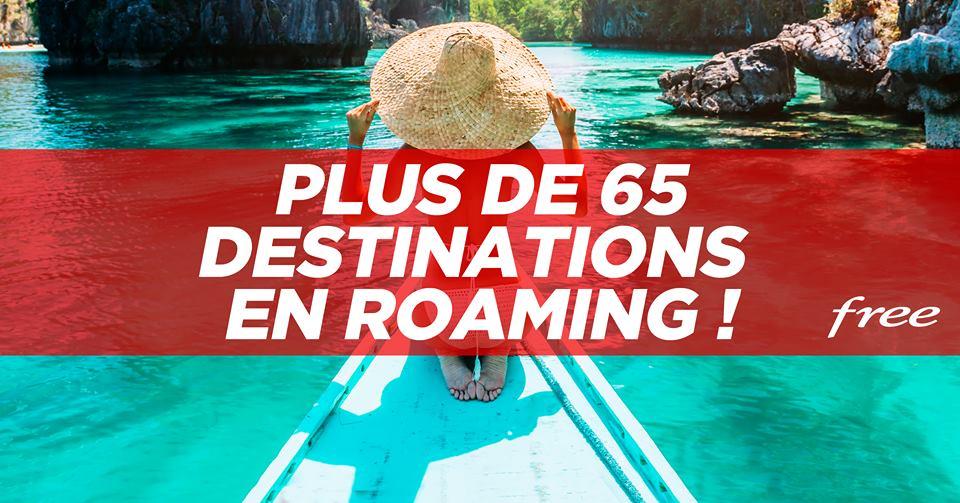 Free ajoute 9 nouvelles destinations en roaming