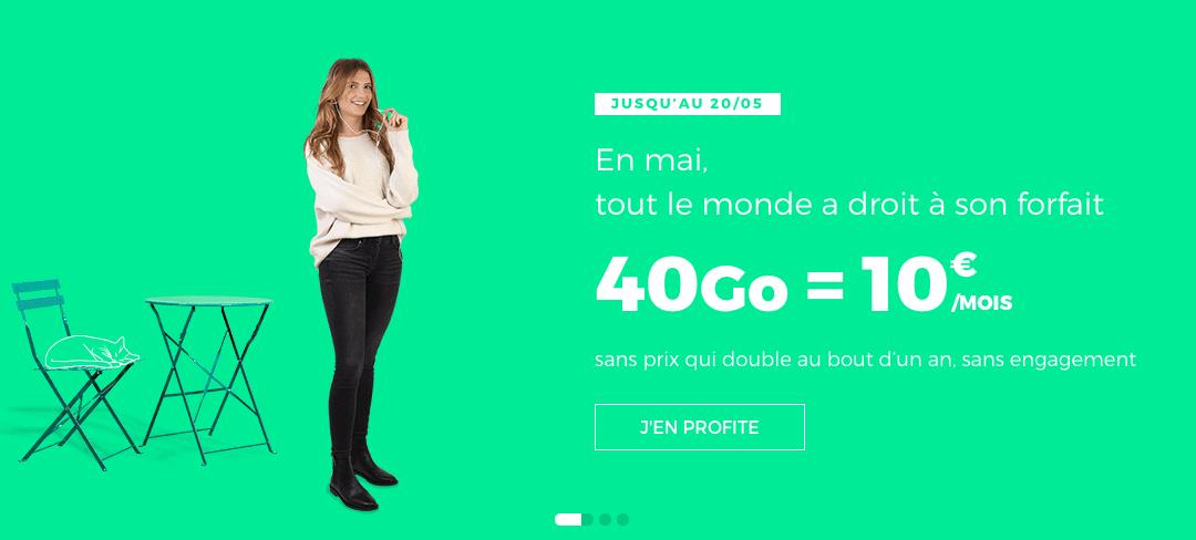 Les bons plans RED By SFR : La fin du 40Go à 10€/mois !