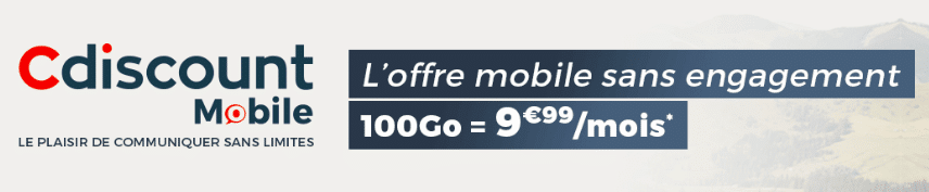Cdiscount prolonge son forfait mobile 100 Go en promotion