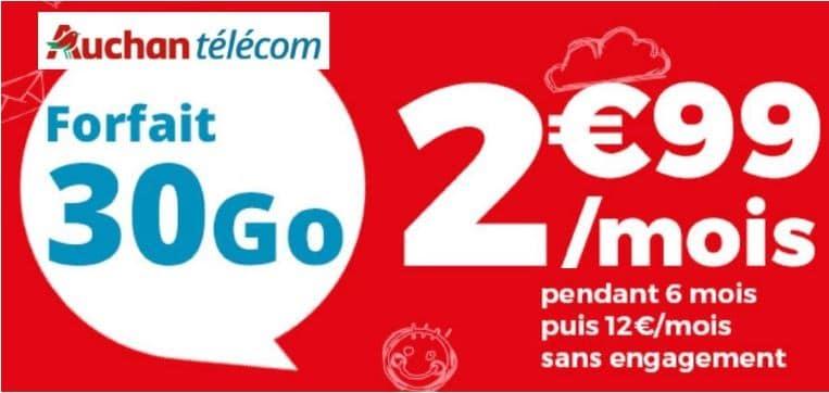 Le forfait pas cher d'Auchan Télécom !