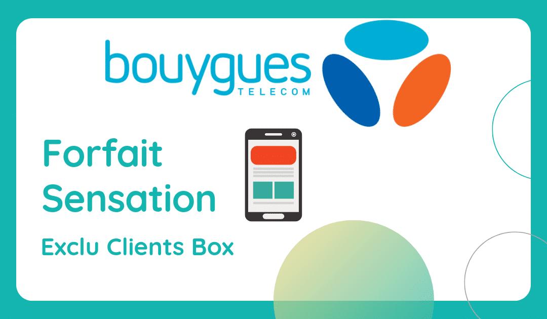 forfait sensation clients box