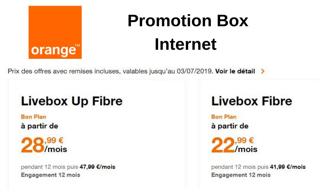 Promotion Box Internet Orange : Livebox en promo !