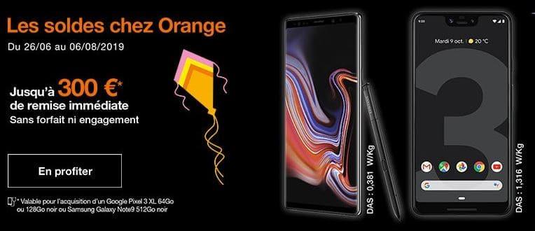 Jusqu'à 300€ remboursés sur les mobiles chez Orange