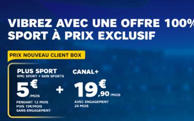 RMC Sport et BeIN Sports sont en soldes chez SFR !