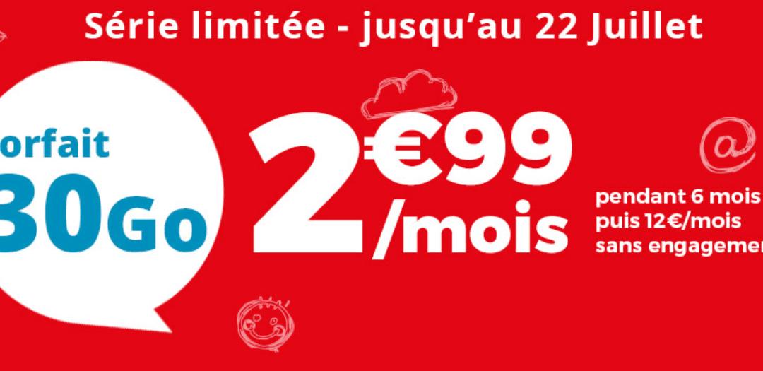 Forfait mobile Auchan Telecom : 30Go à 2,99€/mois
