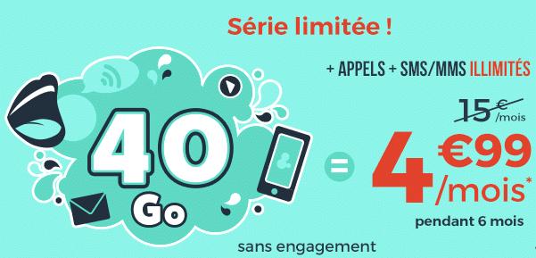 Nouvelle promo Cdiscount mobile : 40 Go à 4,99€ !