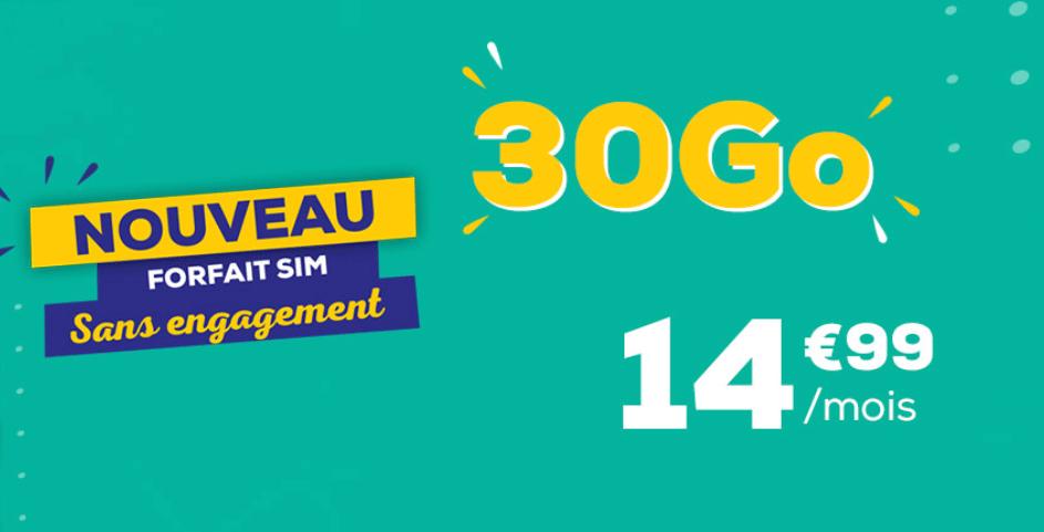 Nouveau forfait La Poste mobile : 30Go pour 14,99€/mois