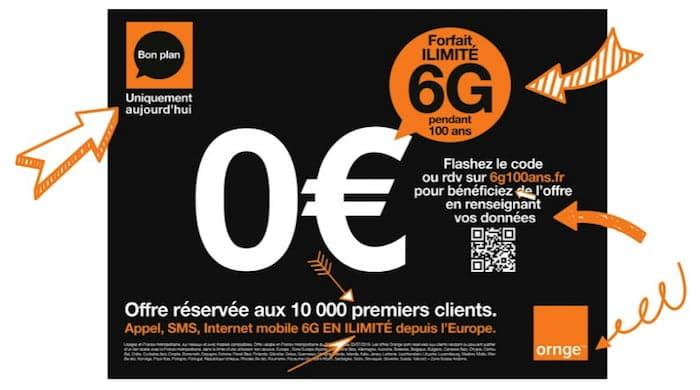 Orange lance un forfait 6G gratuit pendant 100 ans