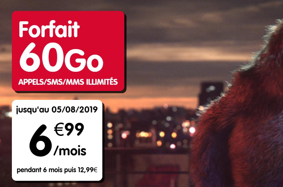 Nouvelle promo NRJ mobile : 60Go pour seulement 6,99€/mois