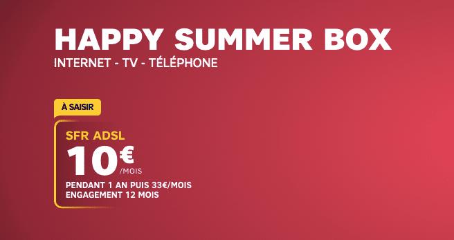 Profitez d'une box internet en promo à 10€ avec la Happy Summer box de SFR