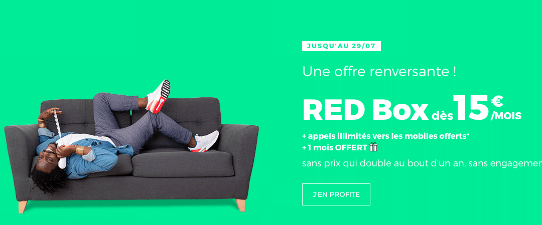 Grosse promotion sur la box internet Red by SFR jusqu'au 29/7