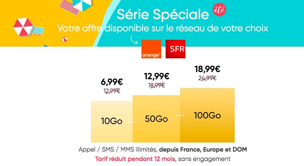 Prolongation de la Série Spéciale été Prixtel dès 6,99€