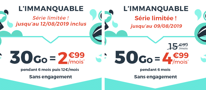 Derniers jours des séries limitées Cdiscount mobile dès 2,99€/mois.