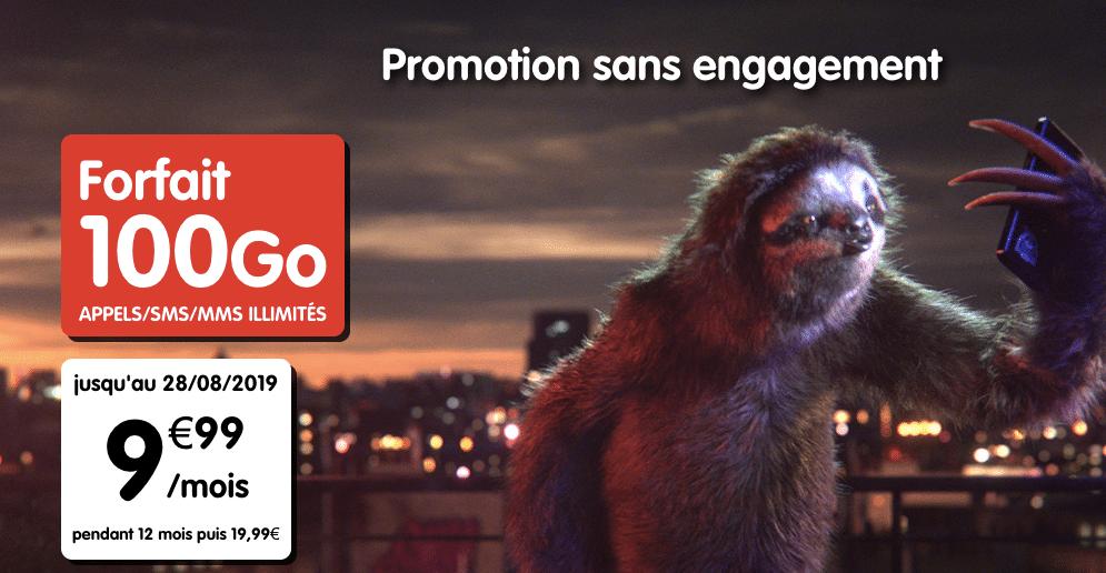 Nouvelle promotion NRJ Mobile – 100 Go à 9,99€/mois
