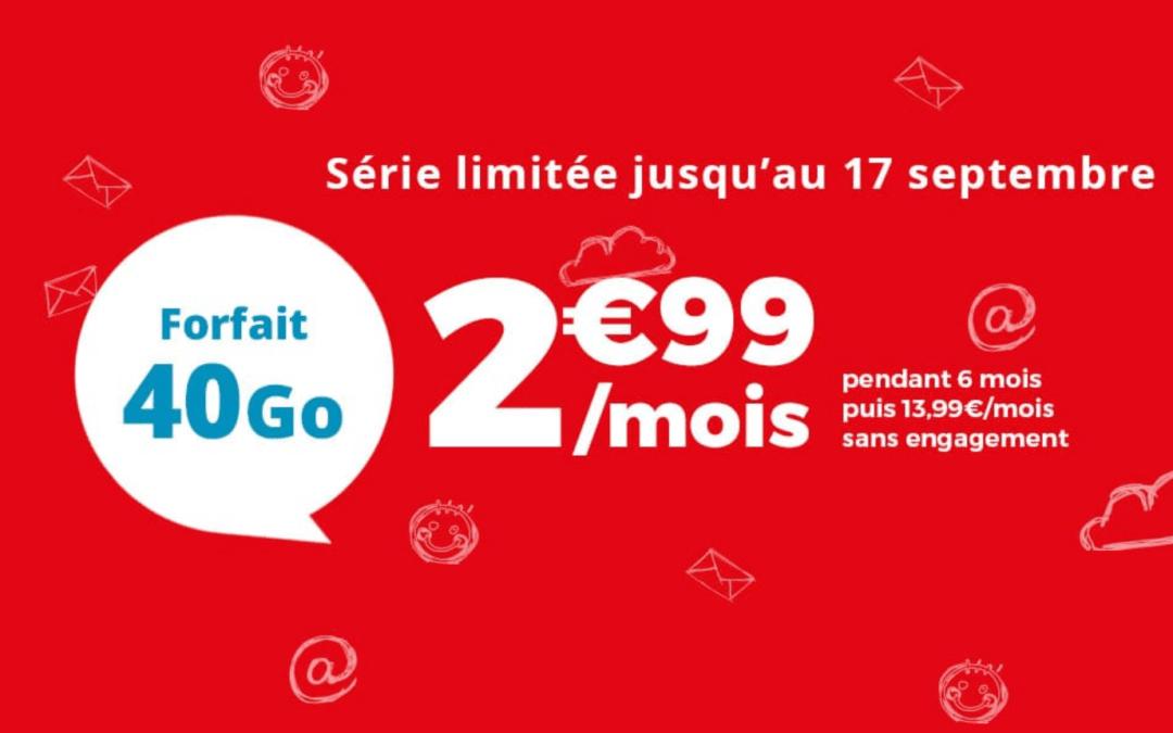 Série limitée Auchan télécom 40Go pour 2,99€/mois