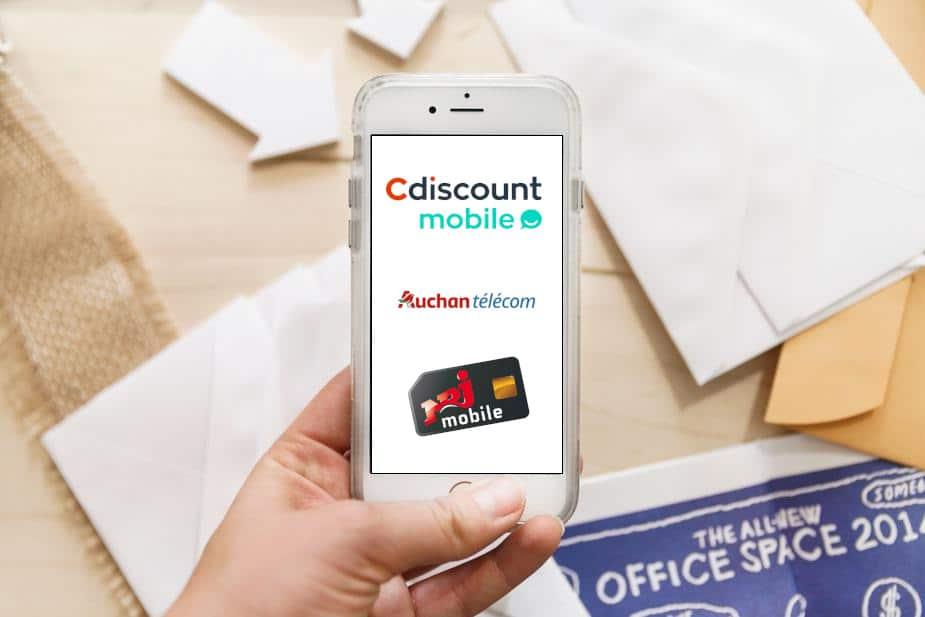 Les nouveaux forfaits mobiles pas chers Cdiscount, Auchan, et NRJ