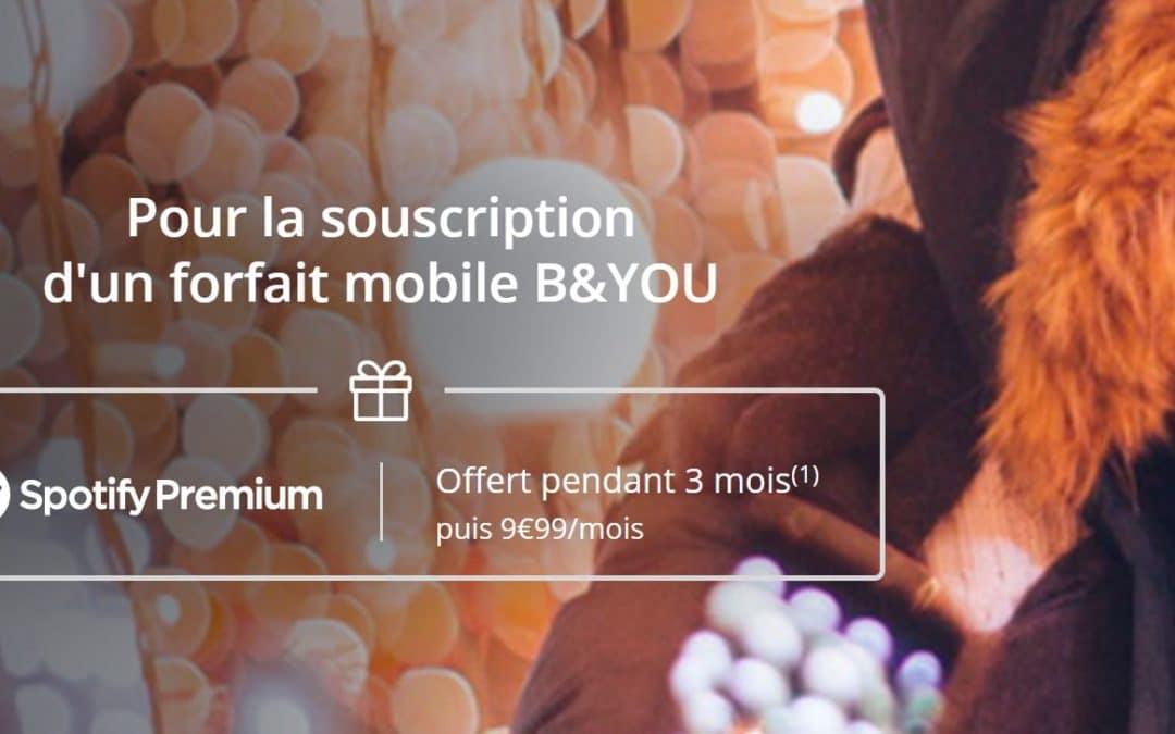 Bouygues telecom vous offre Spotify Premium avec ses forfaits box et mobile