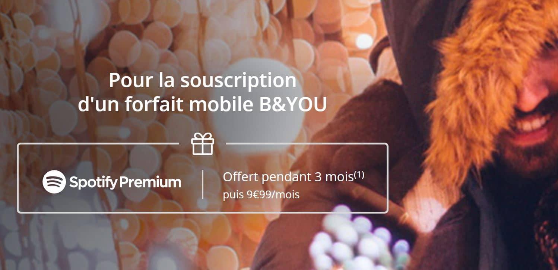 Bouygues telecom vous offre Spotify Premium pour la souscription à un forfait box ou mobile