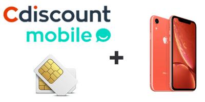 Logo cdiscount mobile avec iphone XR