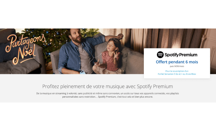 Vente flash Spotify Bouygues : 6 mois de Spotify Premium offert !