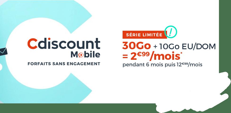 Le forfait Cdiscount mobile en promotion à 2.99€ par mois