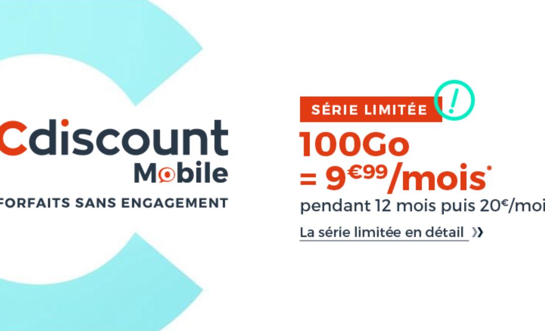 Profitez de la promotion sur le forfait Cdiscount à 9.99 euros / mois.