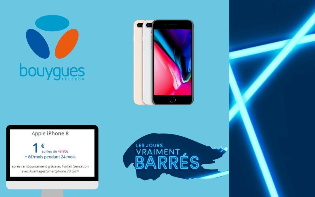 L'IPhone 8 est en promotion à 1€ chez Bouygues Telecom