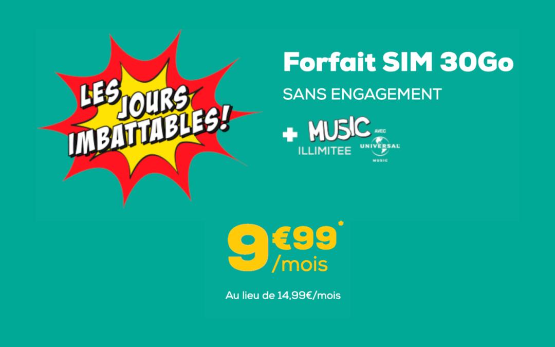 Promo forfait La Poste Mobile avec accès illimité à Universal Music à 9,99€