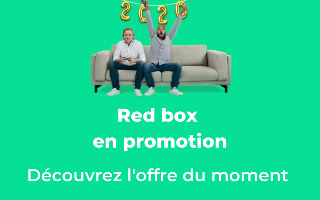 Détails sur promotion sur la Red box à 15€ par mois