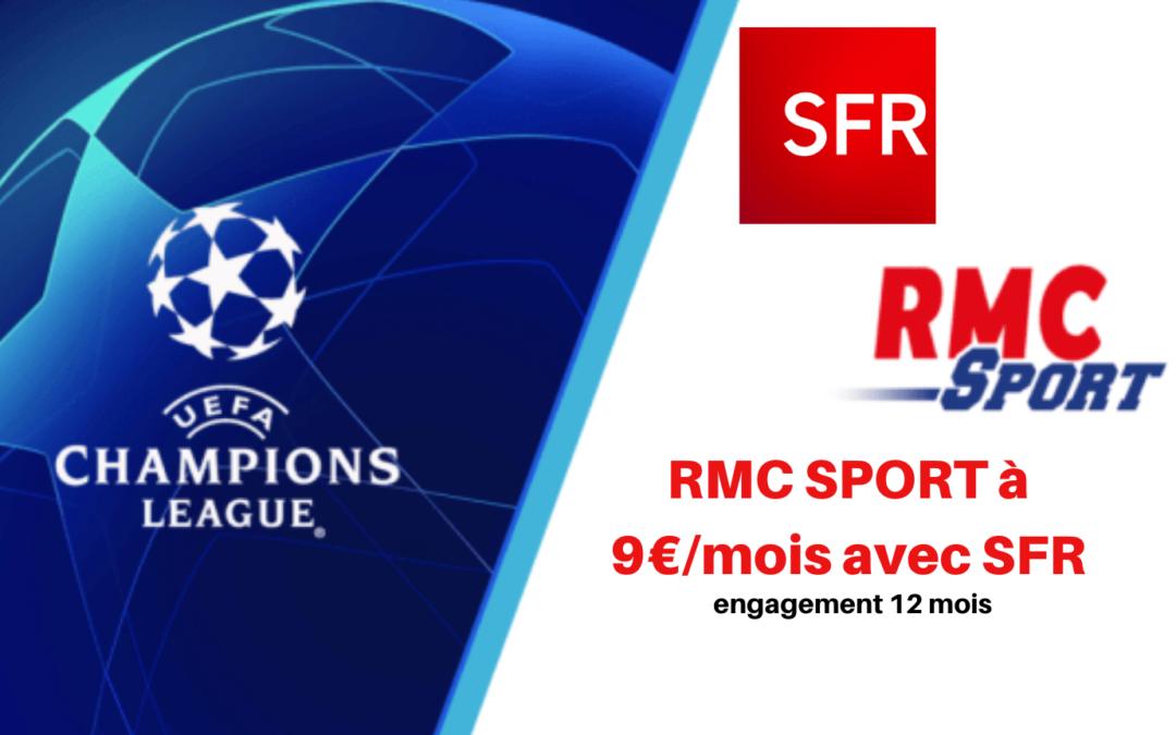 RMC SPORT sur la box Fibre SFR à seulement 9€ par mois