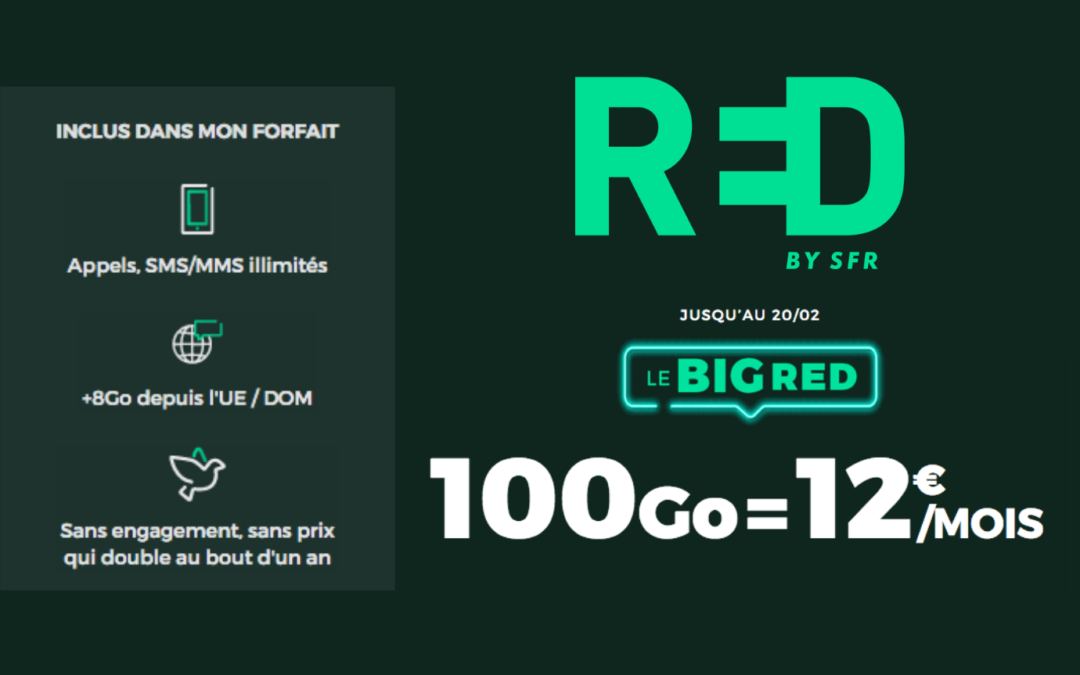 forfait 100go RED by SFR à 12€/mois