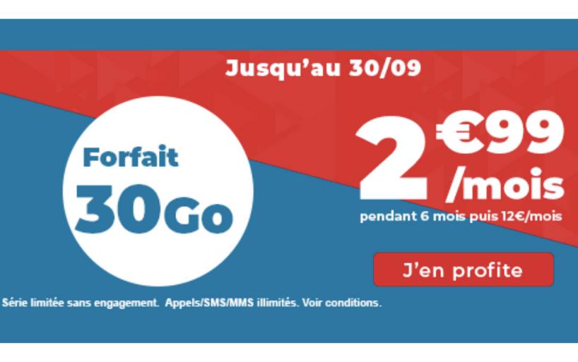 Découvrez le forfait Auchan télécom 30 gigas à 2,99€ par mois seulement
