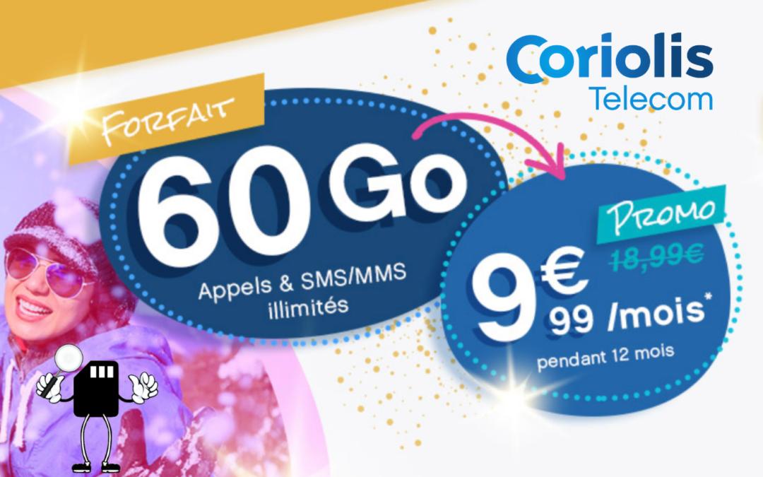 Prolongation des forfaits mobile Coriolis  en promo à partir de 1,99€ par mois