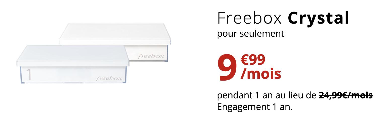 Freebox crystal pas chère