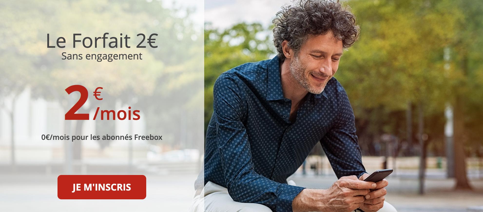 forfait mobile free 2€ en promo