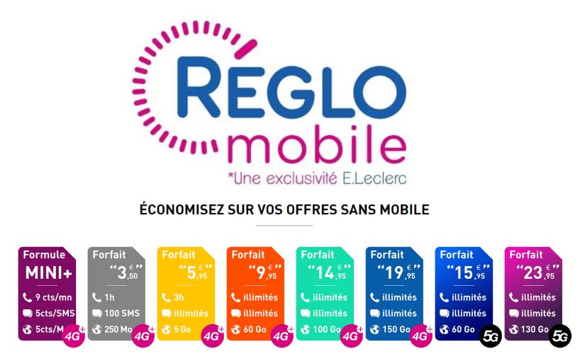 Profitez du forfait Reglo Mobile et ses 60 Go de data pour 10€/mois