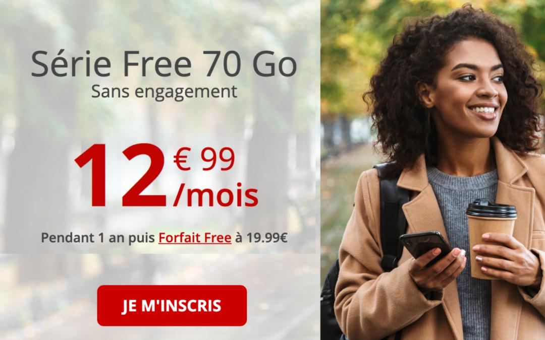 Le forfait mobile série Free repasse de 60 à 70 Go de data
