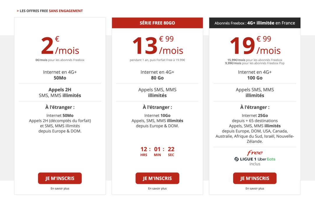 Le forfait Free 2€ double la durée d'appel et augmente sa data !