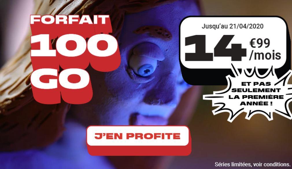 Dernier jour pour profiter de l'offre NRJ mobile 100 Go à 14,99€ à vie