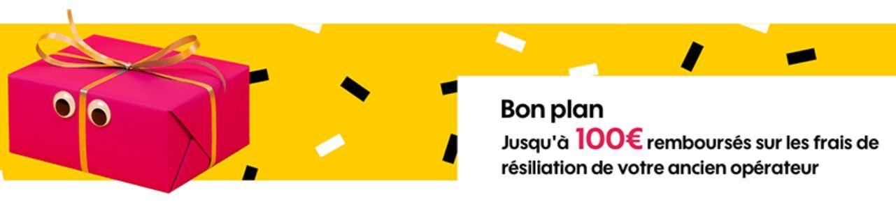 100€ remboursé sur vos frais de résiliation pour toute souscription à une box Sosh.