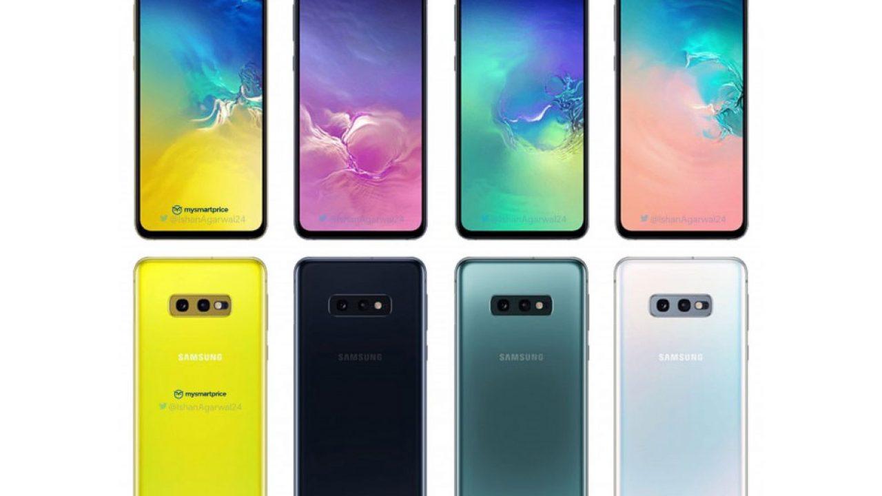galaxy s10e vue d'ensemble des différentes couleurs