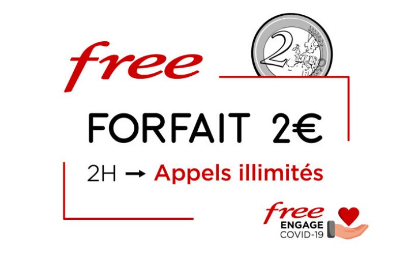 Appels illimités pour le forfait Free 2€ au lieu de 2h d'appels !