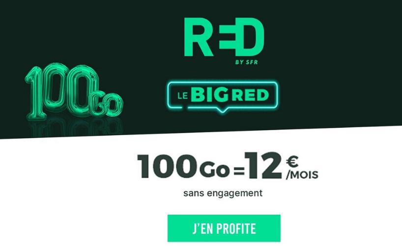 Le forfait RED 100 Go fait son come-back jusqu'au 04/06