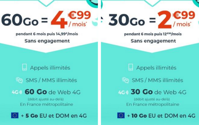 Les forfaits mobile Cdiscount du groupe casino à partir de 2,99€ par mois