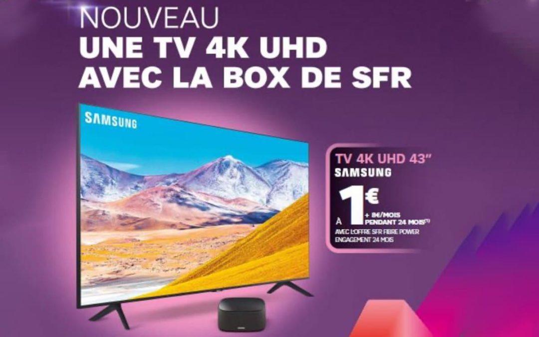L'Offre SFR TV: Une TV Samsung à partir de 1€ avec une box SFR