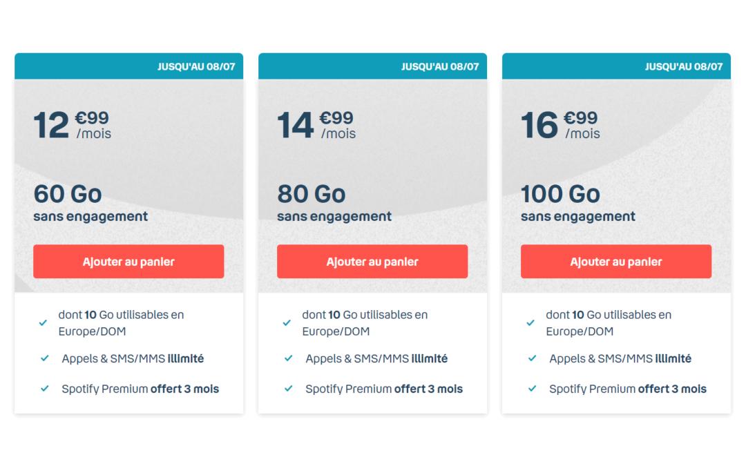 Les forfaits Bouygues sans engagement : la gamme B&You à partir de 12,99€/mois pour 60 Go