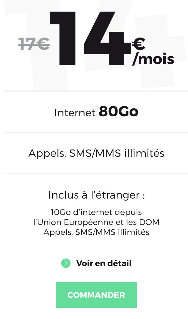 forfait mobile red 80 en soldes