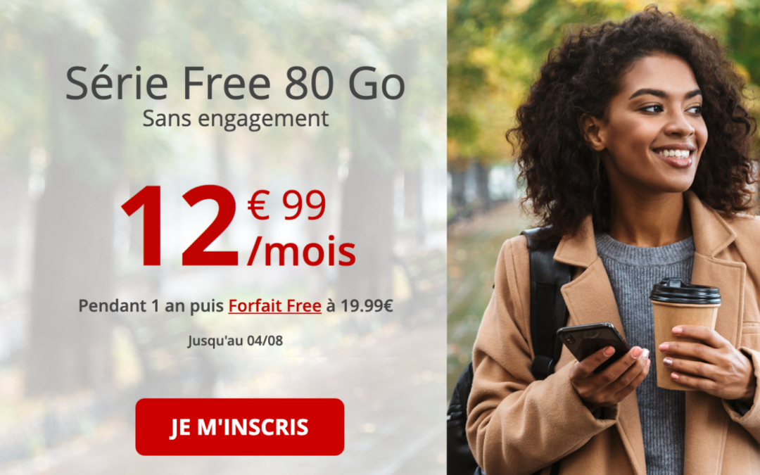 Le forfait Série spéciale Free et ses 80 gigas passe à 12,99€ par mois