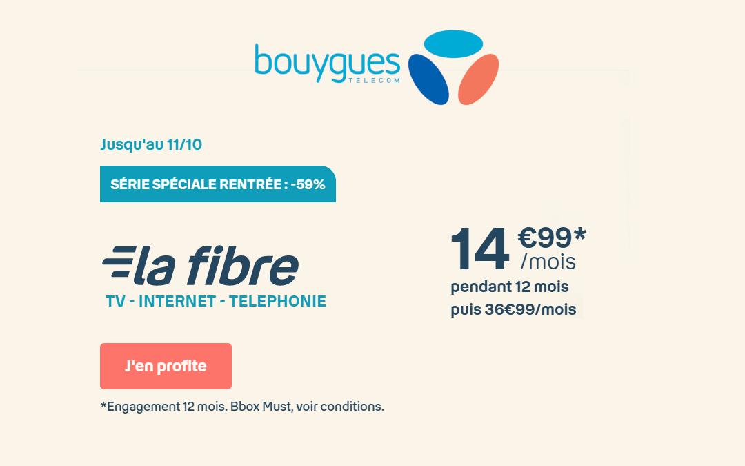 Profitez de la Bbox Must en promotion à seulement 14,99€/mois
