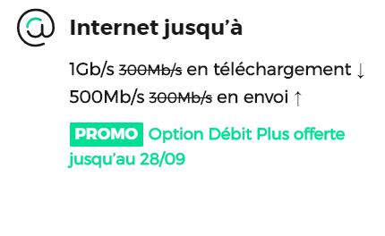 Option débit plus offerte